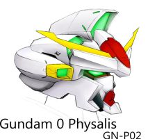 Gundam 0 Physalis GN-P02 by biomonkz