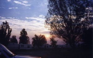 Trailers, Trees, and Sky by wafreeSTOCK