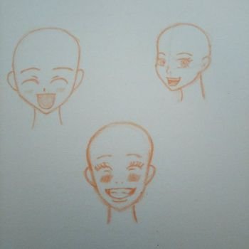 happy face practice by JuliaSelena