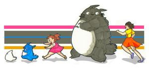 Totoro Chase by Terreiness