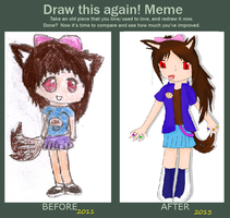 Cookie Hana .: before and after :. by ShualeeCreativity