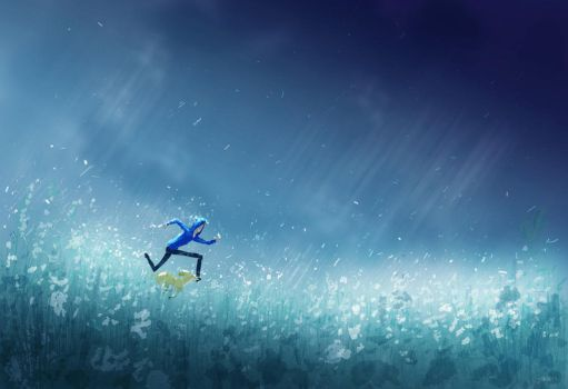 Racing in the rain by PascalCampion