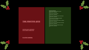 Festive Quiz 2014 [Pages 1 - 2] by TheEmotionalPoet