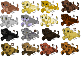Lion cub adoptables Name your Price (closed!) by Sacredfire200