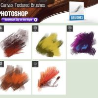Canvas Textured PS Brushes by brushfs