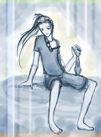 young mischievious sephiroth by conai