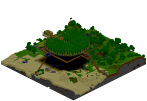 World3 Island Close Up + Light by CrazyRonn