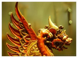 Chinese Dragon Statue by rosanakooymans