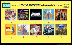 Jefimus top 10 underrated cartoons of the 2000s by JefimusPrime