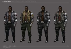 Mortal Kombat X - Jax Concept Art - Color Variants by johnsonting