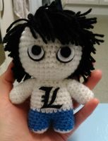 Death Note Inspired L Amigurumi by Anaseed
