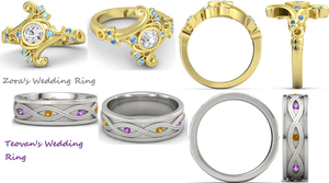 Zora and Teovan's Wedding Rings. by villago