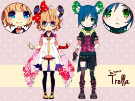 ADOPTABLES - Summer Trella batch01 [CLOSED] by inma