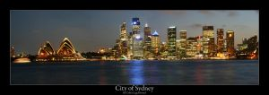 The City of Sydney at night by Colin-LOCP