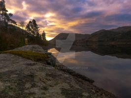 Sunrise over Thirlmere by chrispye77