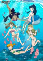 PKMN V - Girls Underwater by Blue90