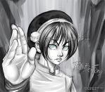 Toph Bei Fong to my friend Su3 by CamiFortuna