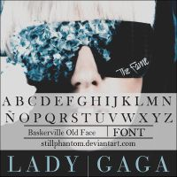 Lady gaga Love game   Font by StillPhantom