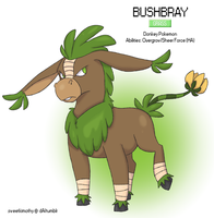 Pokemon Albion Region - #002 Bushbray by sweetkimothy