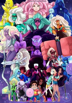 Steven Universe All gems (+ Connie) by Akuo-art