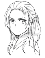 China with hair down [sketch] by ROSEL-D