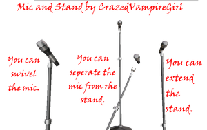MMD mic and stand DL by CrazedVampireGirl