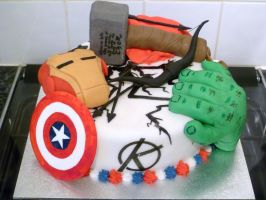 Marvel Avengers Cake by Rebeckington