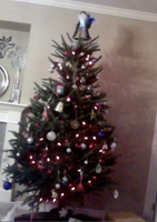 my tree is up YAY!!! by PsychoticallyCute
