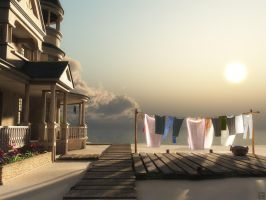 Laundry Day by curious3d