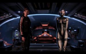 ME3 Jill Shepard and EDI by chicksaw2002