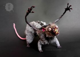 nosferatu the possessed rat - ooak art doll by hikigane