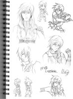 FFXIII Lightning Sketches by LightningGuy