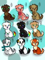 Puppy adopts 1: 4/9 Open - going cheaper! by breeze-adopts