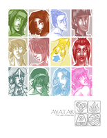 ATLA: Portrait Project by aqua-relle