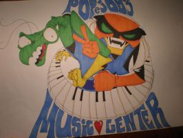 Brak and Zorak: Music Poster by HepcatNesmith