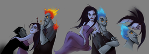 Eris and Hades by LadyDeadPooly