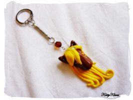 Pony Keychain Charm by Cateaclysmic