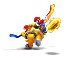 Bowser Vs. Mario Wallpaper by DryBowzillaJP