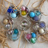 Bird's Nest Necklace by RebeccaJewelry