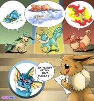 Eevee's Hard Choice Entry by Cachomon