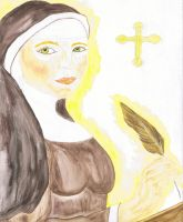 Saint Hildegard by Tricia-Danby