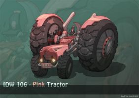 Pink Tractor by nJoo
