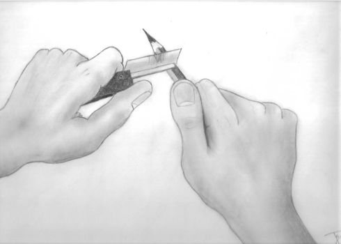 Sharpening my pencil by tomas-q