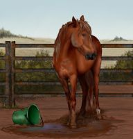 A grub in the mud by decors