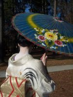 Geisha Parasol Dance 2 by themuseslibrary