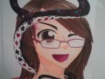 Anime Self-Portrait! by AmericanBlackSerpent