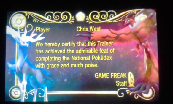 I Completed The National Pokedex!!! by senordunut