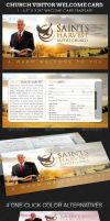 Church Visitor Welcome Card Template by Godserv