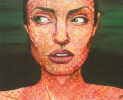 Angelina in Chuck Close Style by No-he-aprendido