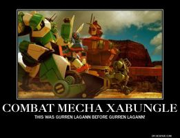 Combat Mecha Xabungle Motivational Poster by slyboyseth